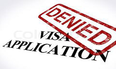 notice of intention Visa Application Denied Stamp Shows Entry Admission Refused